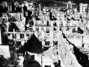Tyska och Italienska bombplan förstörde tillsammans med Franco den baskiska staden Guernica 26:e april 1937 i det spanska inbördeskriget.