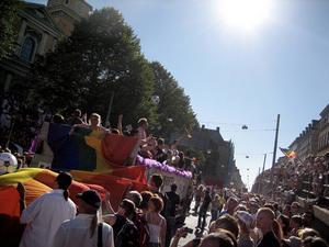 Från Prideparaden i Stockholm för tio år sedan.