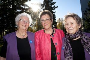 Anita Holmstrand, Mariann Nordlöf och Brigitte Nygren var med från starten när kvinnojouren bildades i Borlänge. I går deltog de på 30-årsjubiléet.