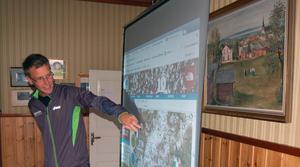 Jonas pekar ut detaljer från ultraloppet i Chamonix och talar om hur han genomförde loppet under olika passager av banan.