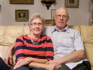 Berit, 73 år och Lennart, 72 år firar i dag guldbröllop.