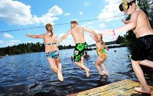 Alla badplatser i Falun har tjänligt badvatten enligt de prover som tagit i sommar.FOTO: ANNIKA BJÖRNDOTTER