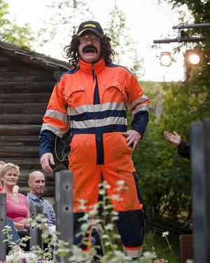 Christer Johansson som karaktären Stånk-Tommy.