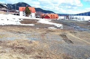 Nationalarenabygget i Åre kan nu försenas ytterligare sedan länsstyrelsen lyssnat på brf Liengårdens argument att bygget är planstridigt och att grannarna skulle ha hörts. Foto: Elisabet Rydell-Janson