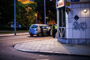 En bil körde in i sidan på en annan bil i centrala Sundsvall.