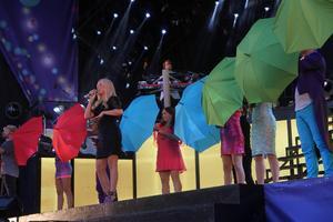 Jessica Andersson framförde låten