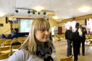 Camilla Andersson från Skogsstyrelsen berättar att träffen har olika teman varje år.