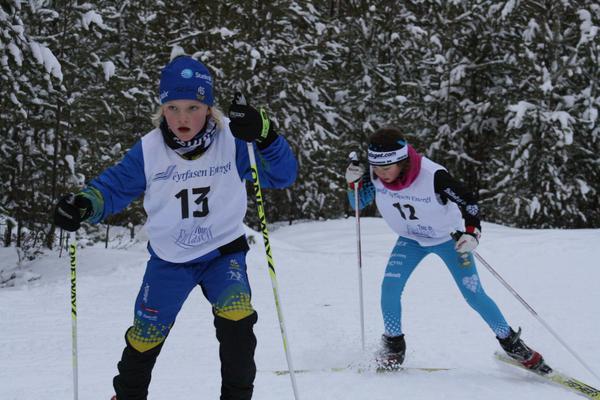 Hanna Oscarsson, Ås IF och Julia Eriksson, Östersunds SK.