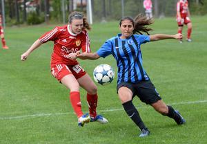 Allison Murphy var närmast ett mål för Gustafs, men amerikanskan träffade ribban.