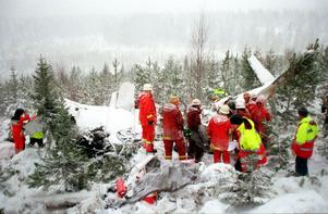 Det var en omskakande syn som mötte räddningspersonalen liksom ST:s unge fotograf på olycksplatsen.