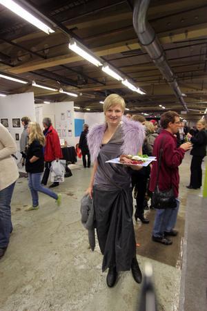 Mässansvariga Evelina Envall från Ljusdals i Centrum hade fullt upp under dagen.