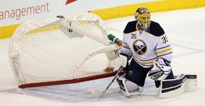 Ullmark fick chansen i NHL när Robin Lehner skadades i säsongspremiären.