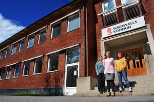 Anna Sundberg, Angelica Jyttner och Jeanette Stenvall, alla psykologer i skolan i Sundsvall.