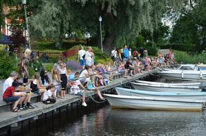 Nora-Gyttorps fiskeklubb firade sportfiskets dag med bland annat barnmete och internationellt mete under lördagsförmiddagen.