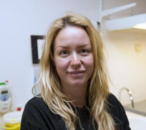Kristin Erlandsson är mycket lycklig som nybliven mamma.