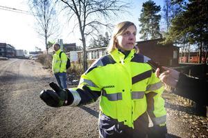 Ulrika Göransson, Skanskas projektledare vid Bovieran i Falun.