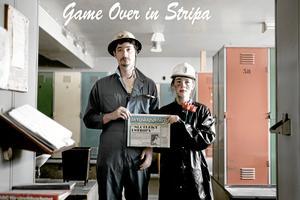 Stumfilm. Gustaf Londré och Misha Wylie med pressklipp från 1985 då frågan om kärnbränsleförvaring i Stripa var aktuell.