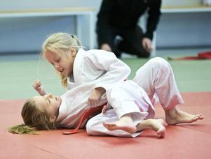 Både tjejer och killar möttes på judomattan under Dalaträffen.