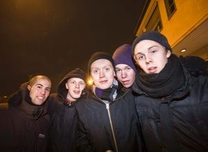 Charbol Sununu, Pontus Jansson, M N Thalberg, Philip Bårman och Filip Erlind.