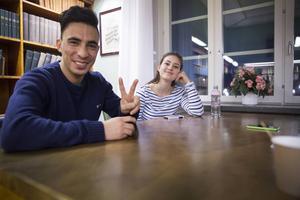 Asad Bayat och Cornelia Sundby är nyblivna vänner.