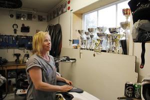 Annica Karvonen har vunnit många pokaler genom åren.