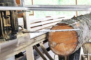 Han ska lägga pengar på att köpa en ny såg, Serra alpina, tillverkad i Tyskland.