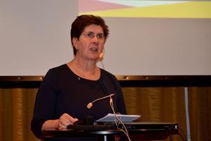Landshövdingen Ylva Thörn inledde konferensen med ett anförande som bland annat handlade om vad länsstyrelsen har för ansvar när det gäller att stå upp för att vi har en öppen demokrati i Sverige.