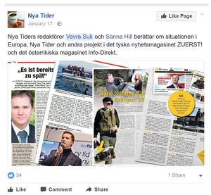 Nya Tider-medarbetaren Ochsenreiter lyfter in Nya Tider i den egna publikationen Zuerst!