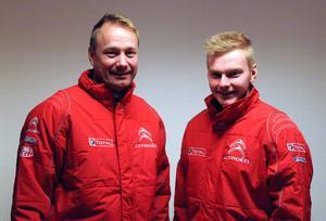 Thomas Thunström och Robin Friberg, Ludvika MS, startar i Rally Sweden.