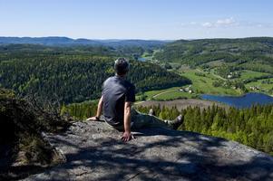 Utsikten från Själandsklinten, ett möjligt stopp för den som vandrar Världsarvsleden.