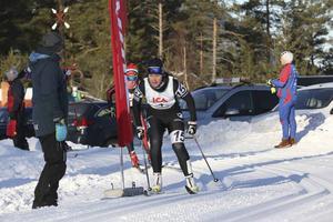 Britta Johansson Norgren var mycket nöjd med sin egen insats efter målgången som vinnare av Tjejvasan 2016.