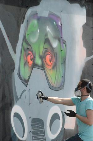 Gouge visar att graffiti är en konstform.