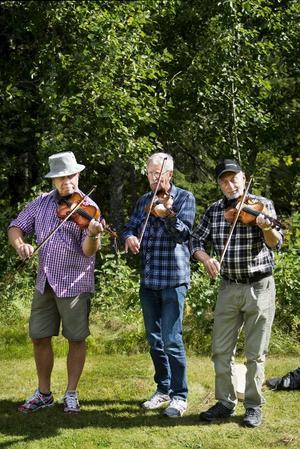 Anders Olsson, P-O Lavesson och Sven Ekström bjöd på vackra fioltoner.