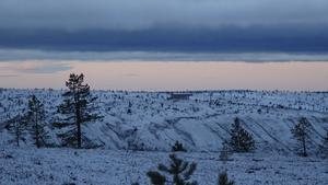 Snön lyste vit på toppen av fjället vid Tandådalen på söndagen..