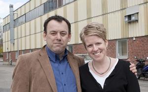 Drivande. Dan Berger från KFUM och Helena Westerlund vid Folkuniversitetet vill driva Ungdomens hus i Kopparlunden.