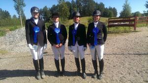 Allianslaget bestod av från vänster Linda Antonsson, Erika Jäderberg, Jessica Backlund och Åsa Öhlander.