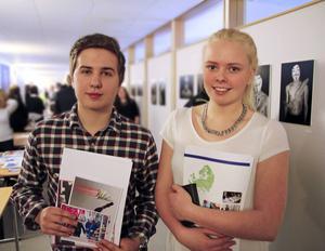 Christian Stenström och Evelina Sundberg hoppades hitta sommarjobb på jobbmässan.