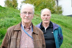 Bengt Liljemark och John-Erik Johansson från föreningen Medvind för bygden tycker att kommunen ska öppna upp för vindkraft i Lillhärdal.