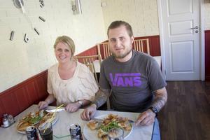 Erika Westh och Sonny Engström gav Vulkanpizzan toppbetyg.