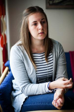 – Om jag är gammal och sjuk ska jag ha rätt att kunna berätta detta på mitt eget språk, säger Matilda Håkansson.