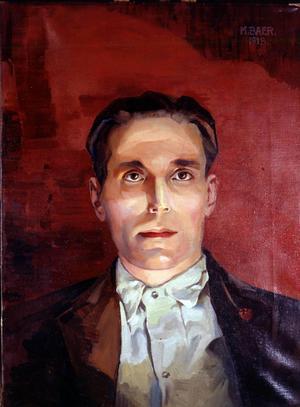 Joe Hill. Oljemålning av M. Baer 1918. Källa: Walter P. Reuther Library, Wayne State University.