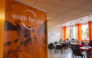 Trots krisen siktar Work For You på att behålla verksamhet i både Gästrikland och Hälsingland. Bilden är från kontoret i Ljusdal.