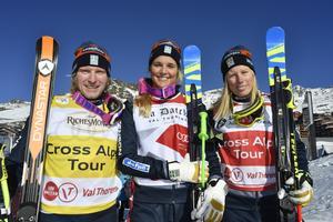 Viktor Andersson, Vemdalen, trea, Anna Holmlund, Sundsvall, etta och Sandra Näslund, Kramfors tvåa.