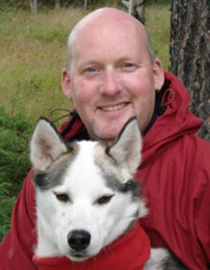 Martin Wagenius, tävlingskoordinator för Amundsen Race. Foto: Privat