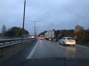 Trafikläget på E18.