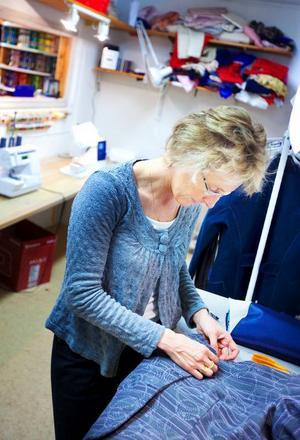 Ingela Andersson har drivit en textilbutik i Brunflo i 1,5 år.