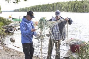 Under vecka 31 provfiskade Johan Axnér och Anders Martinsson i Vågsjön (bilden). Förra veckan var det dags för Märrsjön.