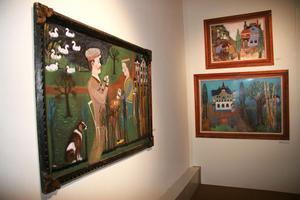 Edsbyns museum med sin samling av Lim-Johan målningar – värt att besöka.Foto: Klas-Göran Sannerman