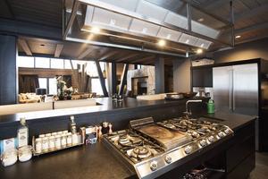 Så här ser köket ut i Villan vid Copperhill.