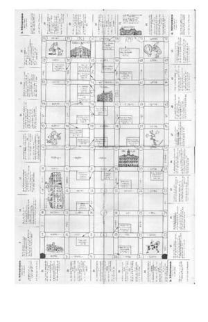 Vecklade man ut det hela så hittade man en spelplan i form av en Gävlekarta.